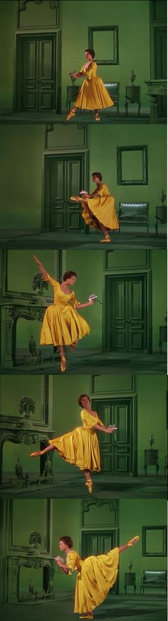 """She's sweet and shy!"" Leslie Caron as Lise Bouvier, admired and loved by Henri Bourel, played by Goerges Guetary in An American in Paris 1951."
