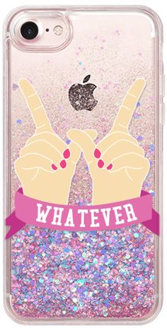 Cell Phone Cases - Casetify iPhone 7 Glitter Case - Whatever by Confetti - Welcome to the Cell Phone Cases Store, where you'll find great prices on a wide range of different cases for your cell phone (IPhone - Samsung) Girly Phone Cases, Iphone Phone Cases, Iphone 8, Coque Iphone 5s, Phone Case Store, Accessoires Iphone, Cool Cases, Iphone Accessories, Just In Case