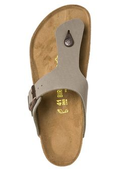Birkenstock RAMSES - T-bar sandals - grau - Zalando.co.uk