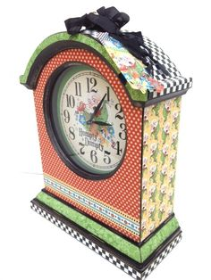 Altered Mother Goose Clock from Diane Schultz' workshop! #graphic45 #newpapercollections #alteredart