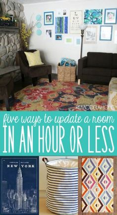 5 EASY ways to update a room in under an hour!  #spon #makeover #budgetfriendly #quickandeasy @Remodelaholic
