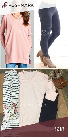 083d18d3c3b426 Melissa pink sweatshirt dress Melissa is super soft cozy perfect for those  cooler days.