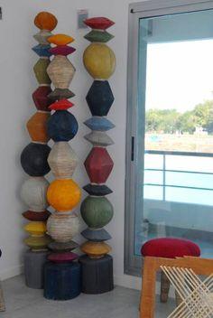 Estilo Pilar Wind Chimes, Bookcase, Shelves, Outdoor Decor, Home Decor, Exhibitions, Style, Art, Shelving