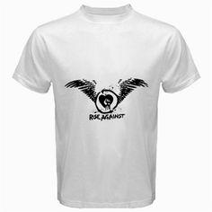 rise againt white t-shirt Size S, M, L, XL, 2XL, 3XL, 4XL, and 5XL | butikonline83 - Clothing on ArtFire