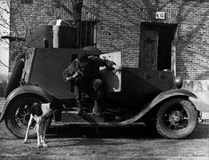 Madrid, Spain. An armored car used by officers of the International Brigades. By Robert Capa, (November-December 1936)