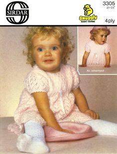 Vintage Toddlers Dress, Knitting Pattern, 1960 (PDF) Pattern, Sirdar 3305 by LittleJohn2003 on Etsy