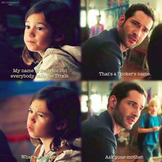 Lucifer, season 1, episode 1. What's a hooker? Ask your mother.