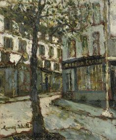 poboh:  Place des Abbesses, ca 1910, Maurice Utrillo. French (1883 - 1958)