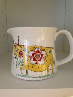 figgjo pitcher with yellow cow