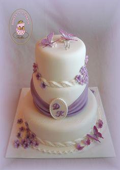 Svatební dort v lila - wedding cake in lilac Wedding Cakes, Wedding Planning, Birthday Cake, Lilac, Purple, Desserts, Food, Flowers, Baby