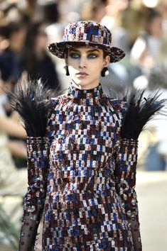 A model walks the runway during the Chanel Haute Couture Fall/Winter 2017-2018 show as part of Haute Couture Paris Fashion Week on July 4, 2017 in Paris, France.