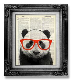 Funny PANDA Office Art, Geekery Decor, HIPSTER Art, Geek Print, Nerd Art, Geeky Art Wall Art Poster Print DORM Decor College Dorm Room Decor on Etsy, 73,37 kr
