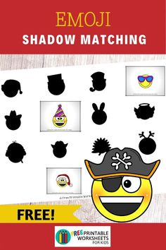 Emoji Dress Up Shadow Match | Free Printable Worksheets For Kids | This emoji shadow matching game develops an important early literacy and math skill called visual discrimination. Fun Faces Printables for Preschool and Kindergarten | Emoji Themed Visual Discrimination Game | Hands On Homeschool Activities | Kids Classroom Center Ideas and Worksheets #FreePrintableWorksheetsForKids emoji #face #costume #shadowmatch Free Printable Worksheets, Worksheets For Kids, Free Printables, Ways Of Learning, Early Learning, Toddler Preschool, Preschool Activities, Easy Arts And Crafts, Early Literacy