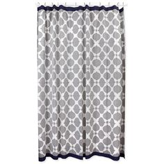 $98    Jonathan Adler Hollywood Shower Curtain in Shower Curtains    I love this one because it would work well with a burnt orange or red towel. This a strong contender!!!