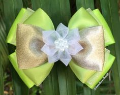 Tiana Hair Bow with Alligator Clip