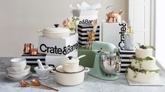 Be inspired for your wedding registry with our pick of gorgeous Crate and Barrel wedding gifts, and our top tips for planning your registry. Best Wedding Registry, Wedding Gift Registry, Crate Bar, Crate And Barrel, Bridal Musings, Apartment Furniture, Cozy House, Beautiful Cakes, Crates