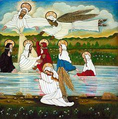 Baptism of Jesus, Lorenzo Scott, 1987. Smithsonian American Art Museum.