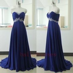 Royal Blue Prom Dresses,Royal Blue Prom Dress,Silver Beaded Formal Gown,Beadings Prom Dresses,Evening…