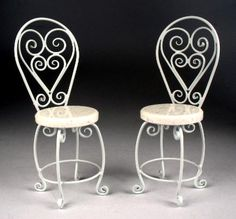 Miniature Wrought Iron Tables,Dollhouse,bistro tables,Dessert tables