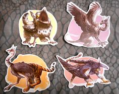 UNCOMMON GRYPHONS STICKER SET - Thumbnail 2