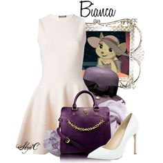Bianca - Disney's The Rescuers by rubytyra on Polyvore featuring Alexander McQueen, River Island, Gregory Sylvia, Decadorn, Faliero Sarti, disney, disneybound and therescuers
