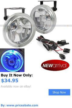 Motors Parts And Accessories: For S10 4 Round Super White W/ Blue Halo Bumper Driving Fog Light Lamp Kit BUY IT NOW ONLY: $34.95 #priceabateMotorsPartsAndAccessories OR #priceabate