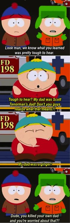 Kyle makes this scene... and Stan's confusion too! South Park