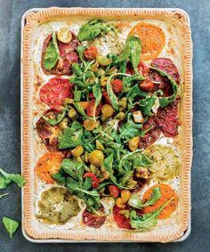 Tomato Tart with Arugula Salad