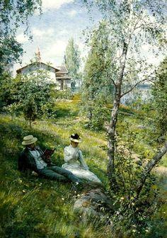 Villa Björkbacken in Summer 1890 ~ Johan Krouthén