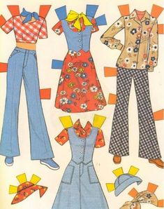 Vintage paper doll, hours of fun with Paper Dolls