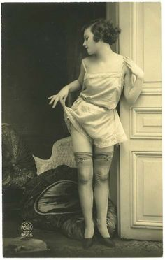 Camiknickers – literally, a camisole and knickers sewn together – were popular in the '20s as they worked well under the daringly short dresses of the time.