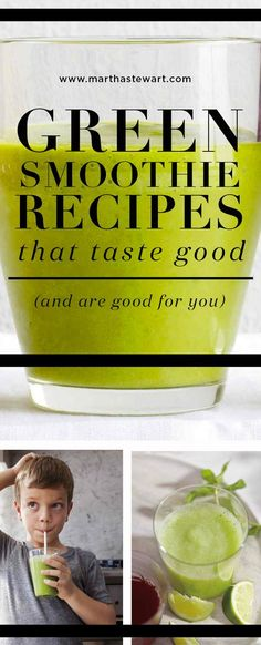 Green Smoothie Recipes that Taste Good (and Are Good for You) | Martha Stewart Living - Don't eat your greens. Actually, we don't mean that: Do eat your greens, but drink them too! Our green smoothie recipes are packed with nutritious ingredients: dark leafy greens, creamy avocado, plus fresh fruits like peach, pineapple, and banana for a touch of sweetness. They're super delicious.
