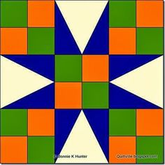 BlockA of Bonnie Hunter's new mystery quilt, Celtic Solstice.