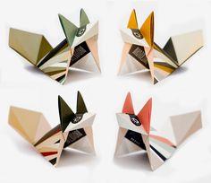DIY Kit foxes, 3 x each colour & instruction van Birdtoldme op DaWanda.com