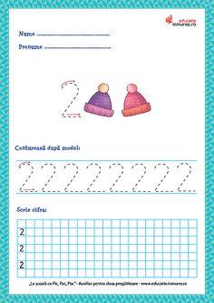 Tracing Worksheets, Preschool Worksheets, Preschool Learning Activities, Preschool Activities, Math 2, Numbers Preschool, Kids Education, Homeschool, Crafts For Kids
