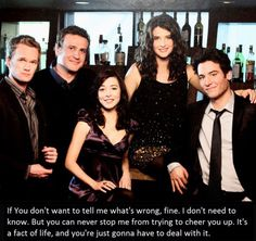 Neil Patrick Harris, Alyson Hannigan, Jason Segel, Josh Radnor, and Cobie Smulders in How I Met Your Mother Best Tv Shows, Best Shows Ever, Favorite Tv Shows, Favorite Quotes, Favorite Things, How I Met Your Mother, Movies Showing, Movies And Tv Shows, Series Movies