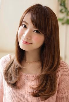 Long Hair Cuts, Long Hair Styles, Hair Colour, Color, Side Bangs, Pinterest Hair, Hair Trends, Hair Ideas, Asian Girl