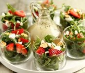 Strawberry salad with poppy seed dressing by My Baking Addiction