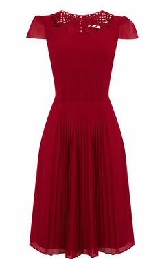 Great for afternoon tea with a 40s hair do. Fluid pleat dress - Karen Millen