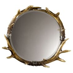 Interesting...bathroom, entry, bedroom, over fireplace?  $217.80  Stag Horn Wall Mirror