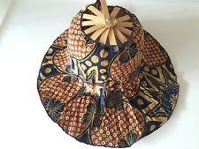Bamboo Batik Hat/fold Hat Item No 3