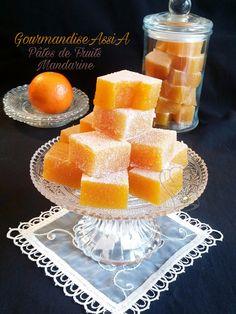 Pâtes de Fruits à la Mandarine | Gourmandise Assia Something Sweet, Cantaloupe, Sweet Tooth, Cheese, Salem, Eat, Picsart, Drink, Homemade Chocolate