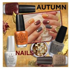 """Autumn Nails"" by stacey-lynne ❤ liked on Polyvore featuring beauty, In Your…"