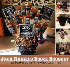 Unique DIY Valentine's Day Gifts For Men DIY goodness man bouquet Regalos Jack Daniels, Festa Jack Daniels, Jack Daniels Party, Jack Daniels Gifts, Jack Daniels Cake, Jack Daniels Birthday, Valentines Diy, Valentine Day Gifts, Christmas Gifts