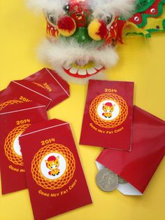 Chinese New Year free printable red envelope craft for 2014, year of the horse