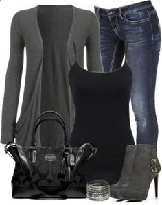 Casual outfit via Polyvore. Women's fashion