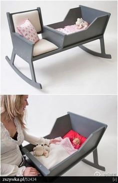 A mothers dream!!! Love this concept!!! Rock your baby without holding them so they stay asleep interrupted