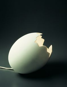 porcelain broken egg lamp / ingo maurer