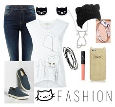 """""""108 #catcomfort #felineswag"""" by lightning1208 ❤ liked on Polyvore featuring Replay, Roberto Coin, STELLA McCARTNEY, SeaVees, Kate Spade, Kevin Jewelers and NARS Cosmetics"""