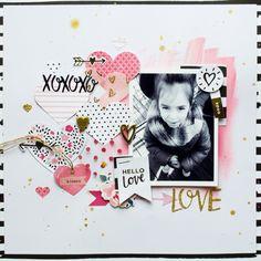 Layout San Valentine - Hello Love de Crate Paper